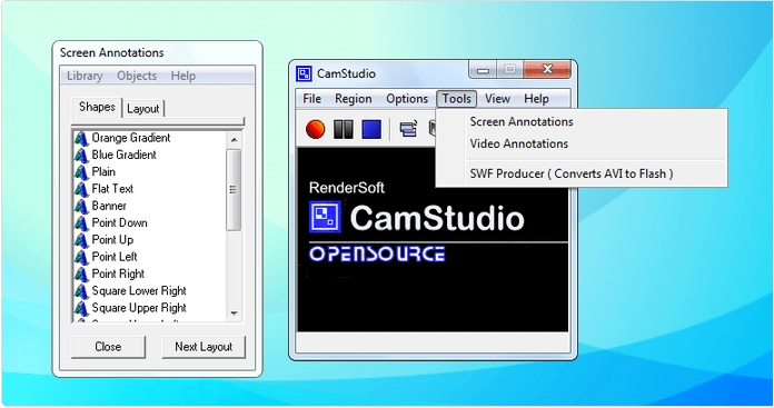 free screen recorder camstudio