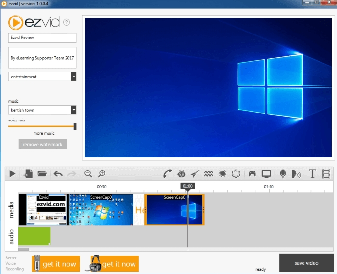 free screen recorder ezvid