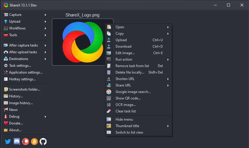 free screen recorder sharex