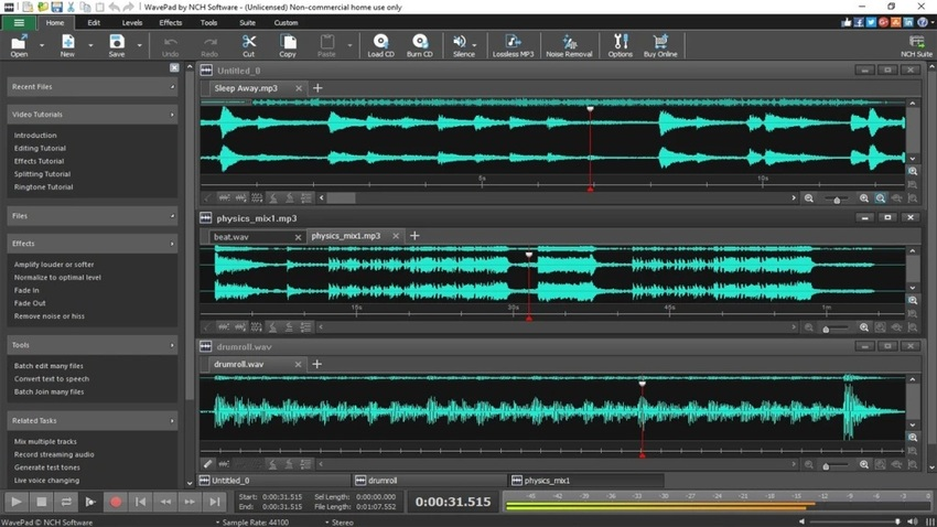 Music Recording Software for Windows-Wavepad