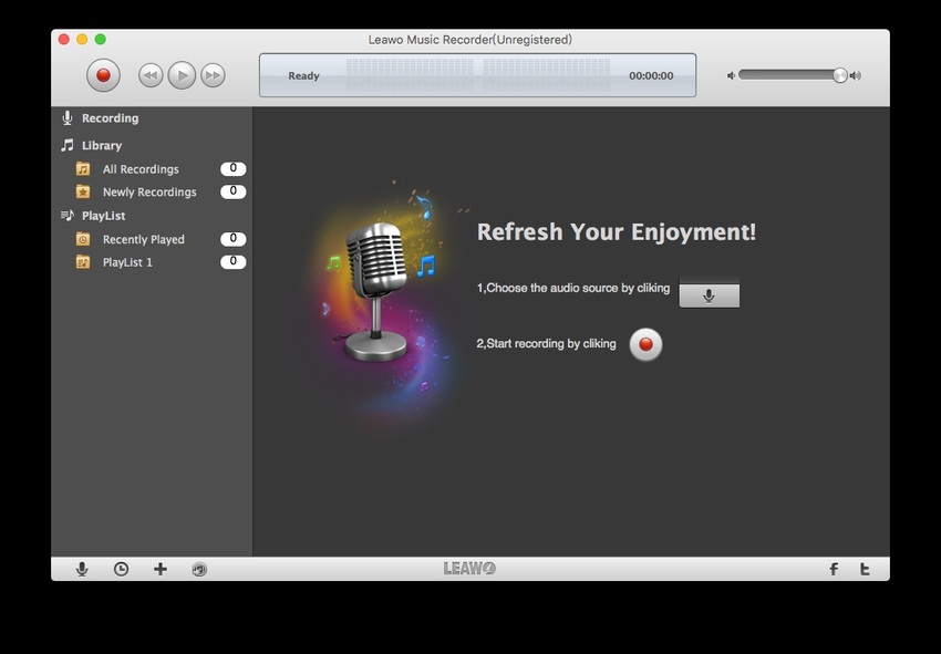 Record Music From PC-Leawo Music Recorder