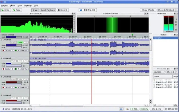 Best Free Music Recording Software traverso