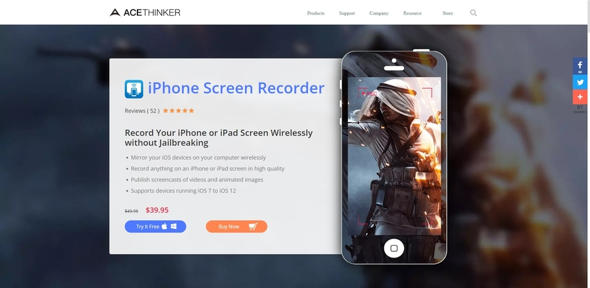 Record Facetime-AceThinker iPhone Screen Recorder
