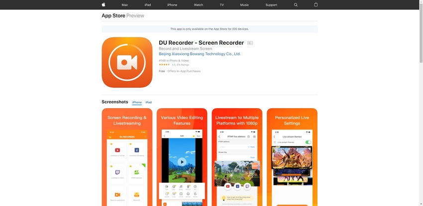 Record with Facetime-DU Recorder