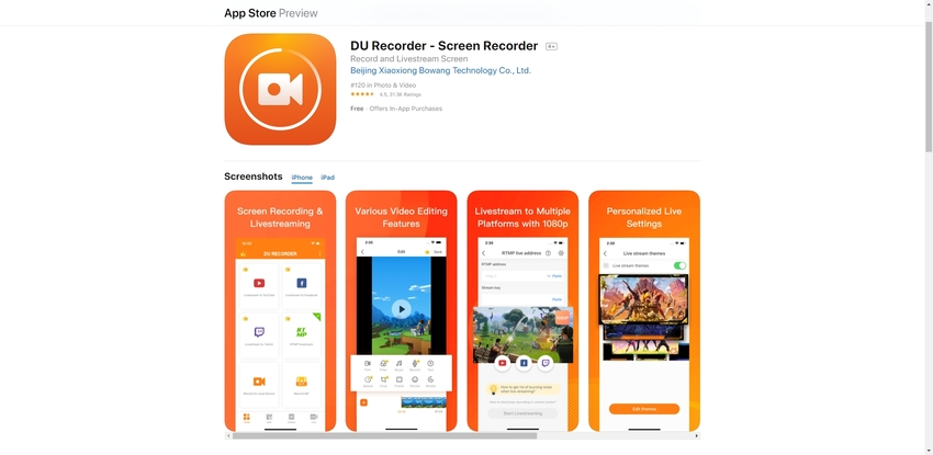 Live Recording Application-DU Recorder