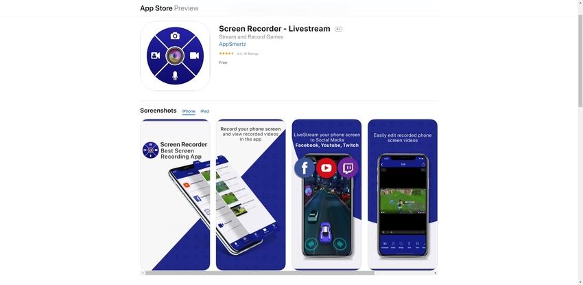 Live Recording App-Livestream