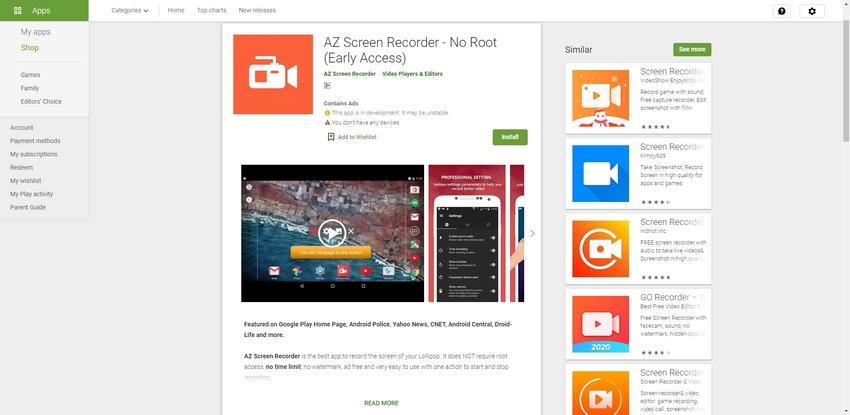 Free Live Recording Software-AZ Screen Recorder