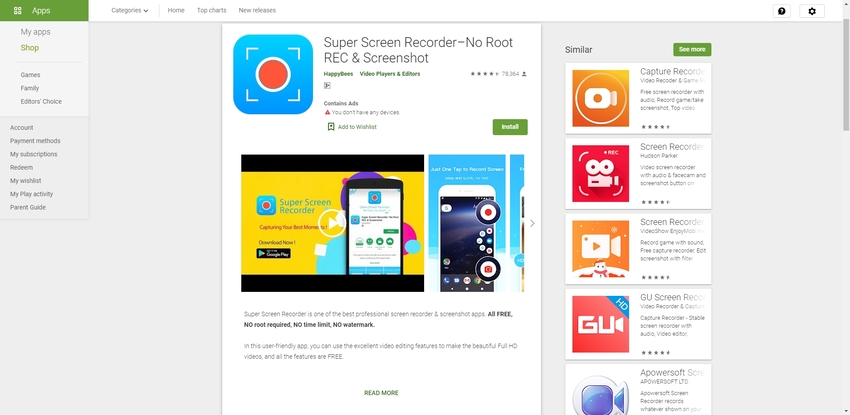 Stream Recorder Free-Super Screen Recorder