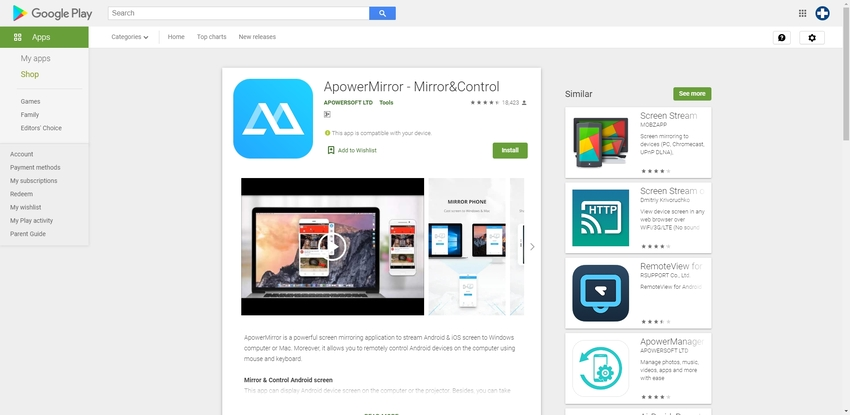 Record Video Call Whatsapp-ApowerMirror