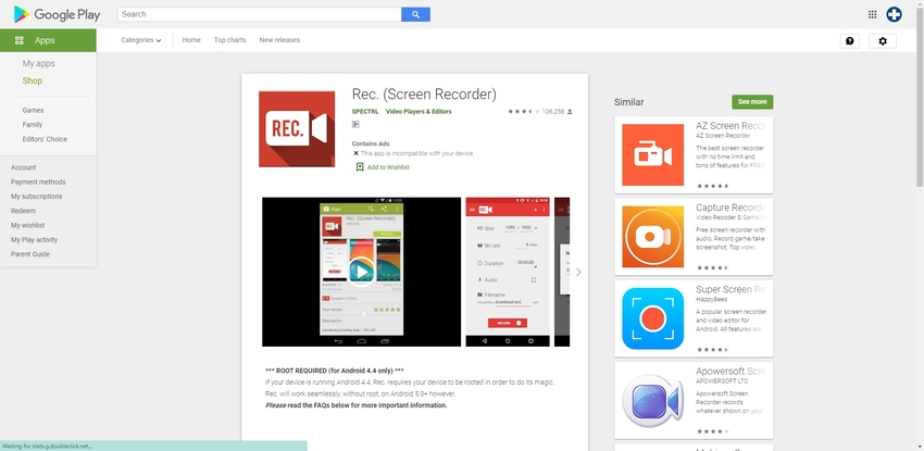 Video Call Recording Whatsapp-Rec