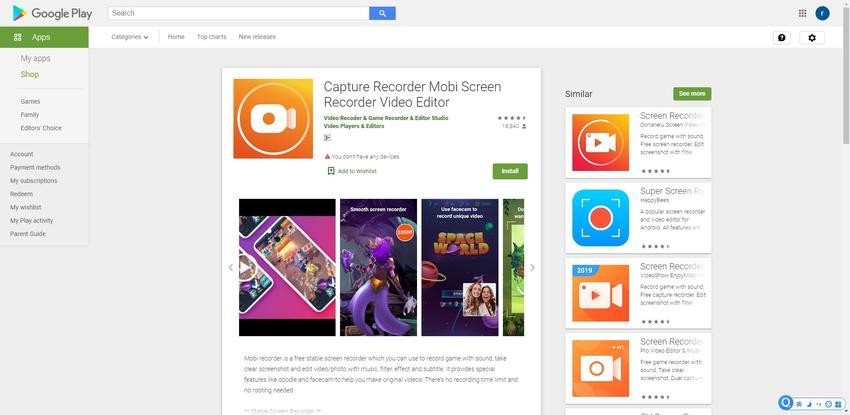 Samsung Screen Recorder-Capture Recorder Mobi Screen Recorder Video Editor
