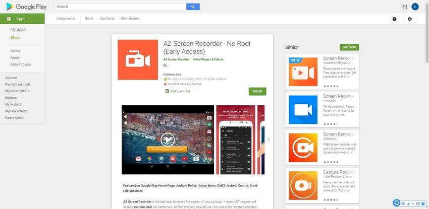 Note 9 Screen Record-AZ Screen Recorder