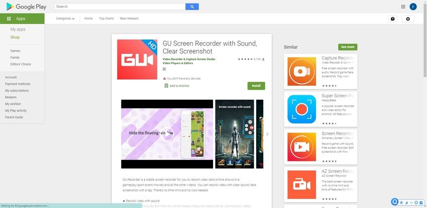 Screen Record Note 9-GU Screen Recorder