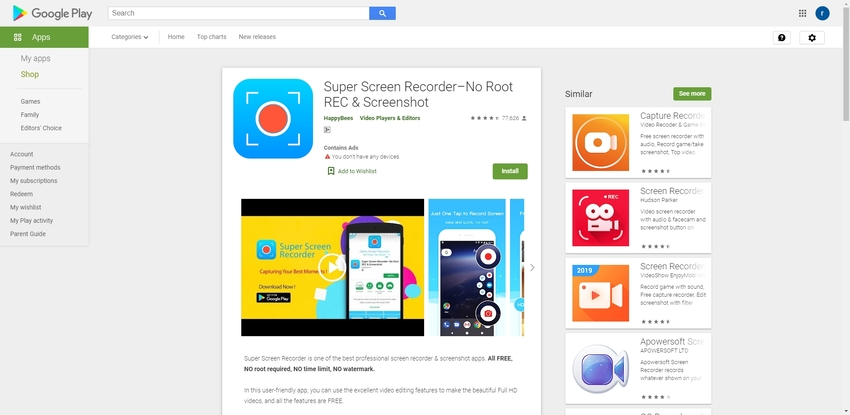 How to Screen Record on Samsung-Super Screen Recorder