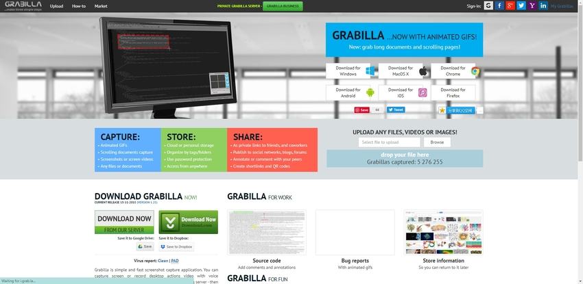 free desktop capture program-Grabilla