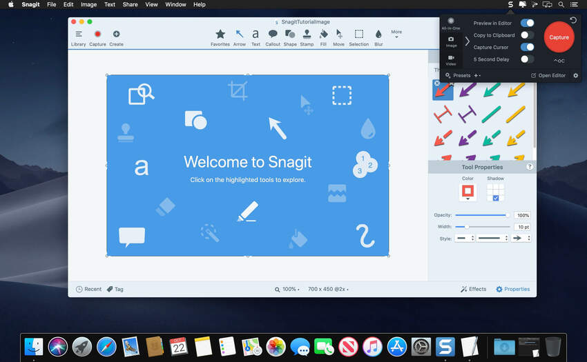best freeware screen capture-Snagit