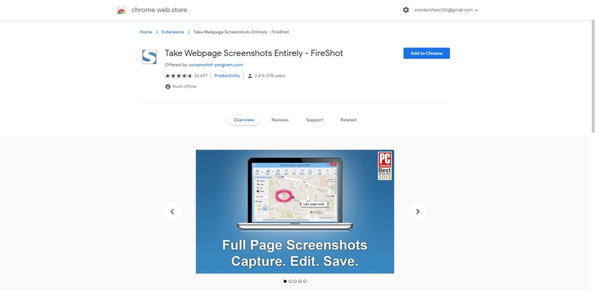 Screen Capture Chrome Extension-FireShot