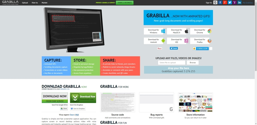 Screen Capture for Windows-Grabilla