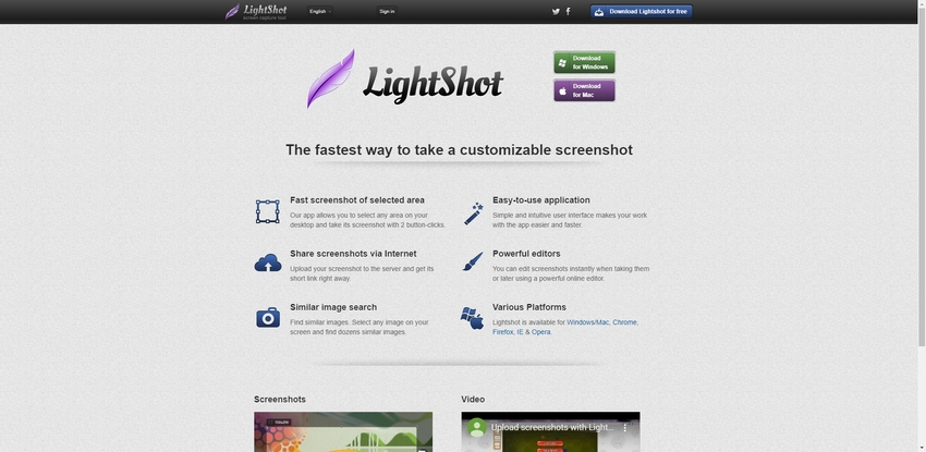 Free Screen Capture Windows-Lightshot