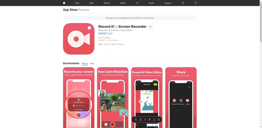 iPad Screen Recorder-Record it