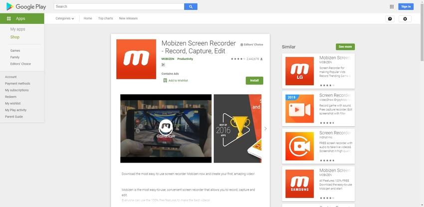 Screen Record Oppo-Mobizen
