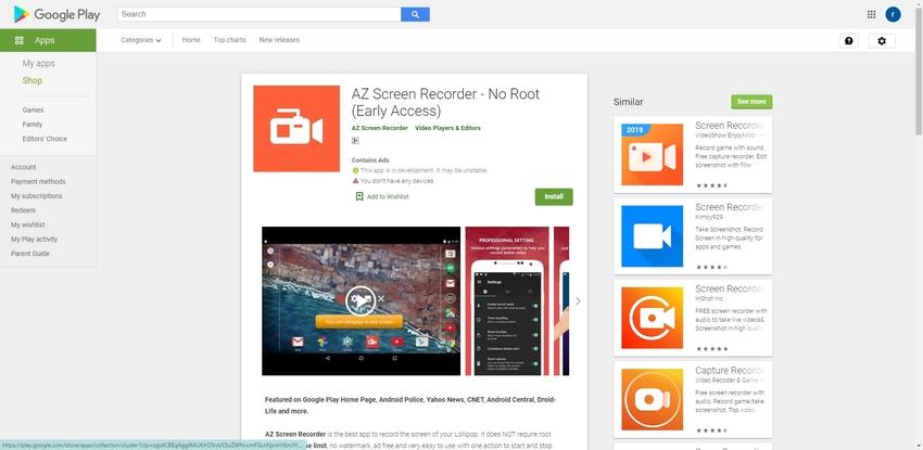 Screen Recorder Android-AZ Screen Recorder