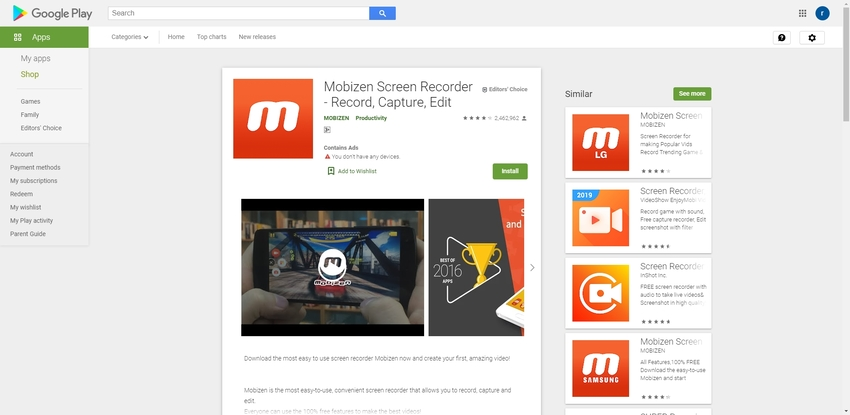 Best Screen Recorder Android-Mobizen Screen Recorder
