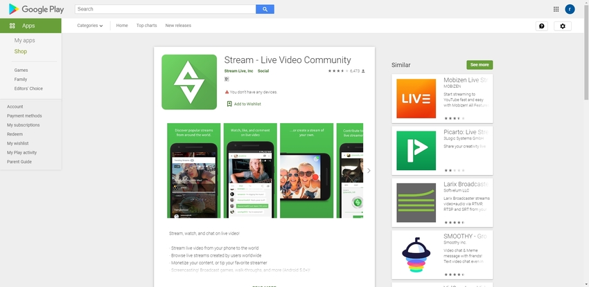 Android Screen Recorder-Stream- Live Video Community