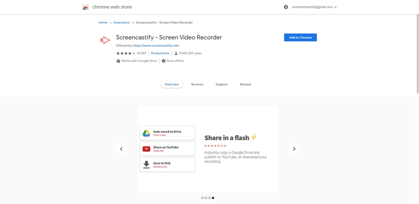 Chrome Video Recorder-Screencastify
