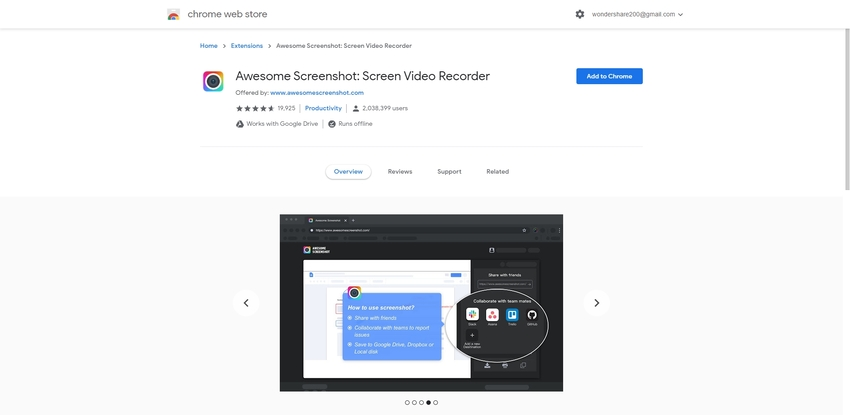 Chrome Screen Recorder-Awesome Screenshot