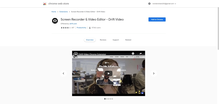 Google Chrome Screen Recorder-Drift Video