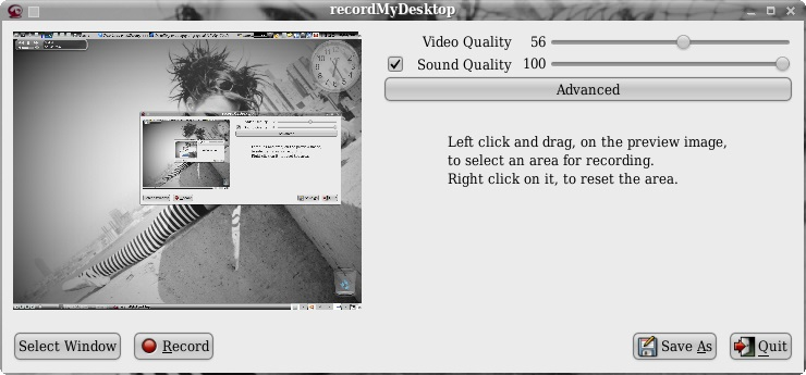 Linux Screen Recording App-recordMyDesktop