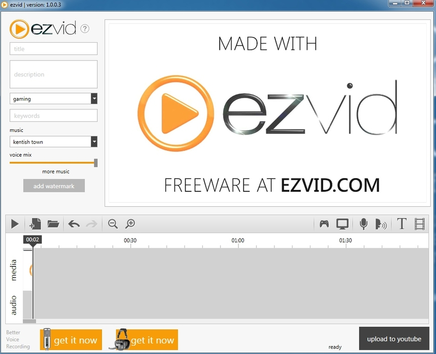 Screen Capture Movie Windows-EzVid