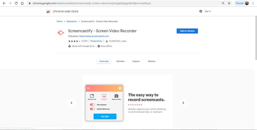 Capture Online-Screencastify