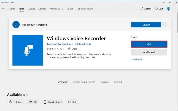 Audio Recorder-Windows Voice Recorder
