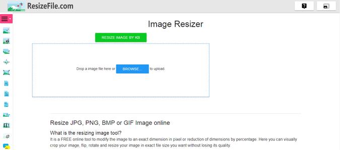 resize image in kb 1