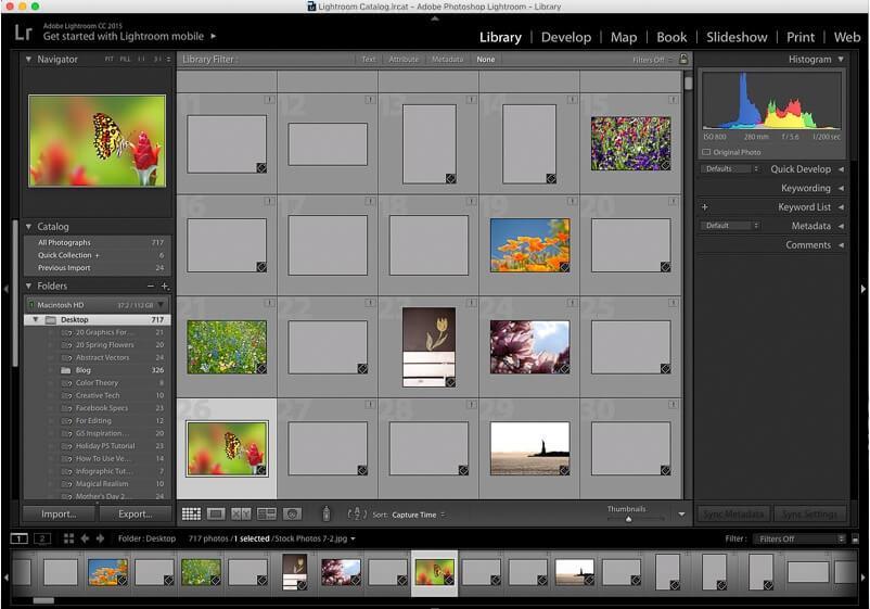resize image lightroom - step1