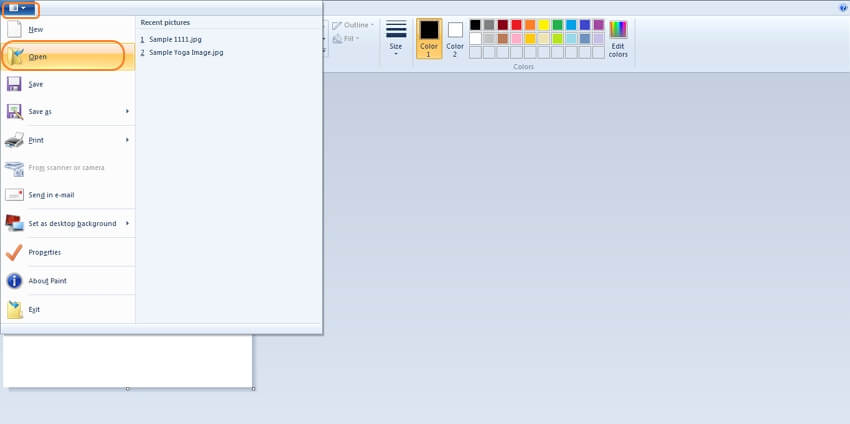 resize image paint - step1