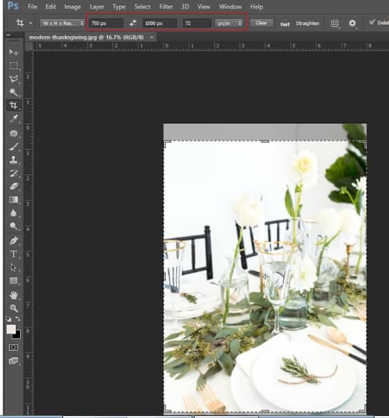 resize logo photoshop - step3