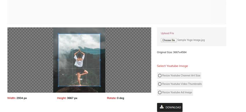 resize photo youtube - 3