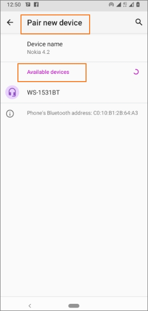 Connect Bluetooth Headphones in Android step3