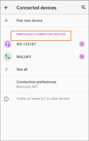Connect Bluetooth Headphones in Android step4