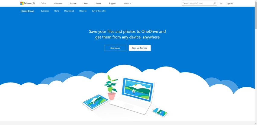 Best File Sharing Website-OneDrive