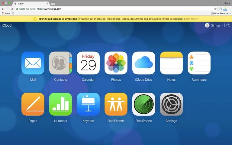 File Sharing Website-iCloud