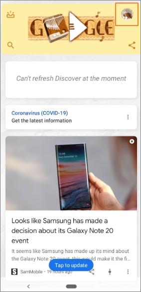 enable Okay Google step1