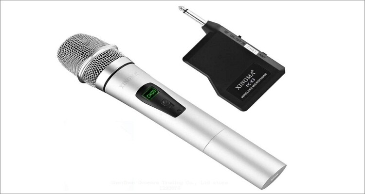 Tralntion XINGMA PC-K6 Portable Rechargeable LED Wireless Microphone