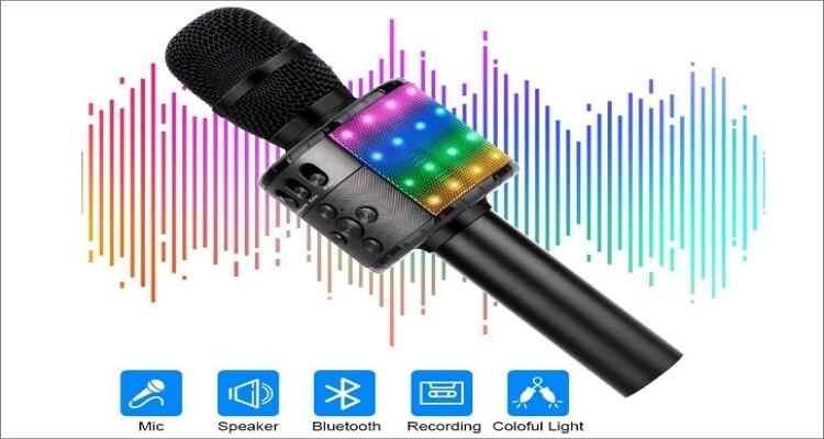 Verkstar Upgraded Wireless Bluetooth Karaoke Microphone