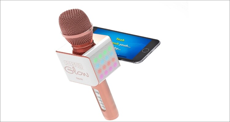 Tzumi PopSolo – Rechargeable Bluetooth Karaoke Microphone