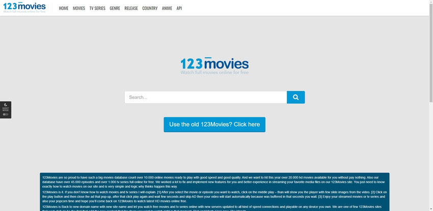 best movie streaming site-123movies