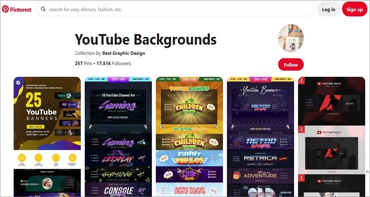 youtube background image size